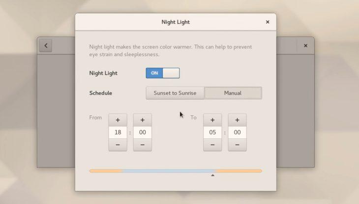 GNOME's new Night Light app
