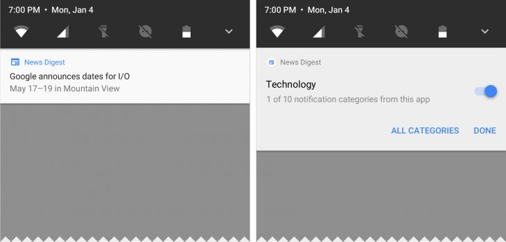 Improved notifications control and visuals
