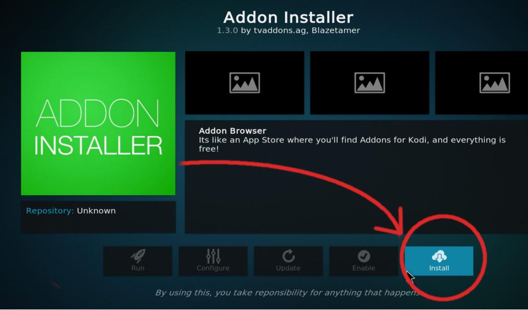 Install ADDON INSTALLER