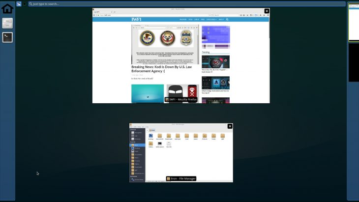 Xfce's xfdashboard plugin brings GNOME Shell like overview