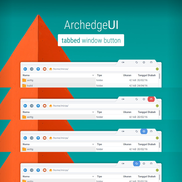 ArchedgeUI window decorations