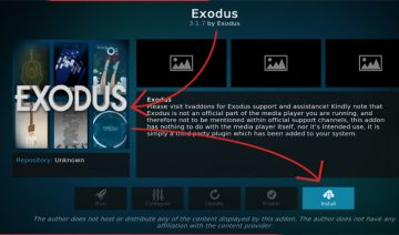Installing Exodus Kodi 17 (and above)