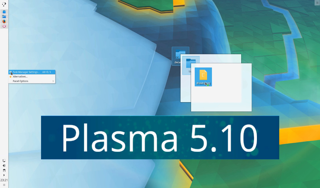 KDE Plasma 5 10 is Out: Folder View is Back Along With Other