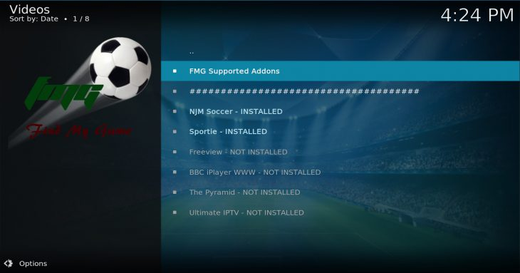 FMG supported addons