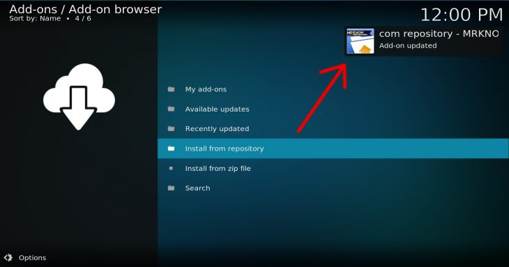 Kodi notification saying filmkodi repo was installed