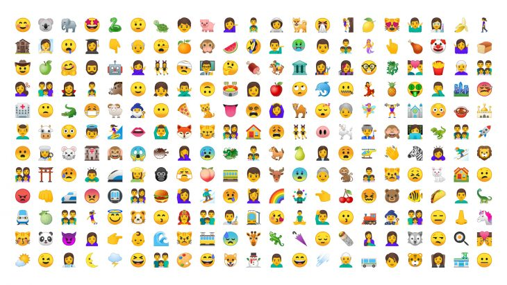 Android's new set of emojis