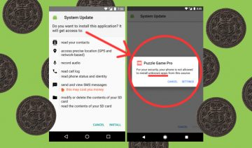 Android Oreo drops collective Unknown Sources