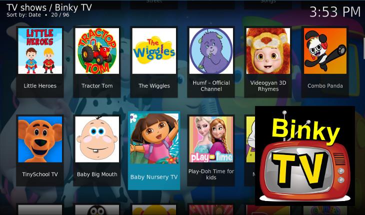 Binky TV Kodi addon