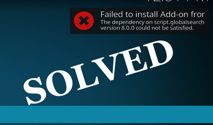 kodi exodus install failed dependency