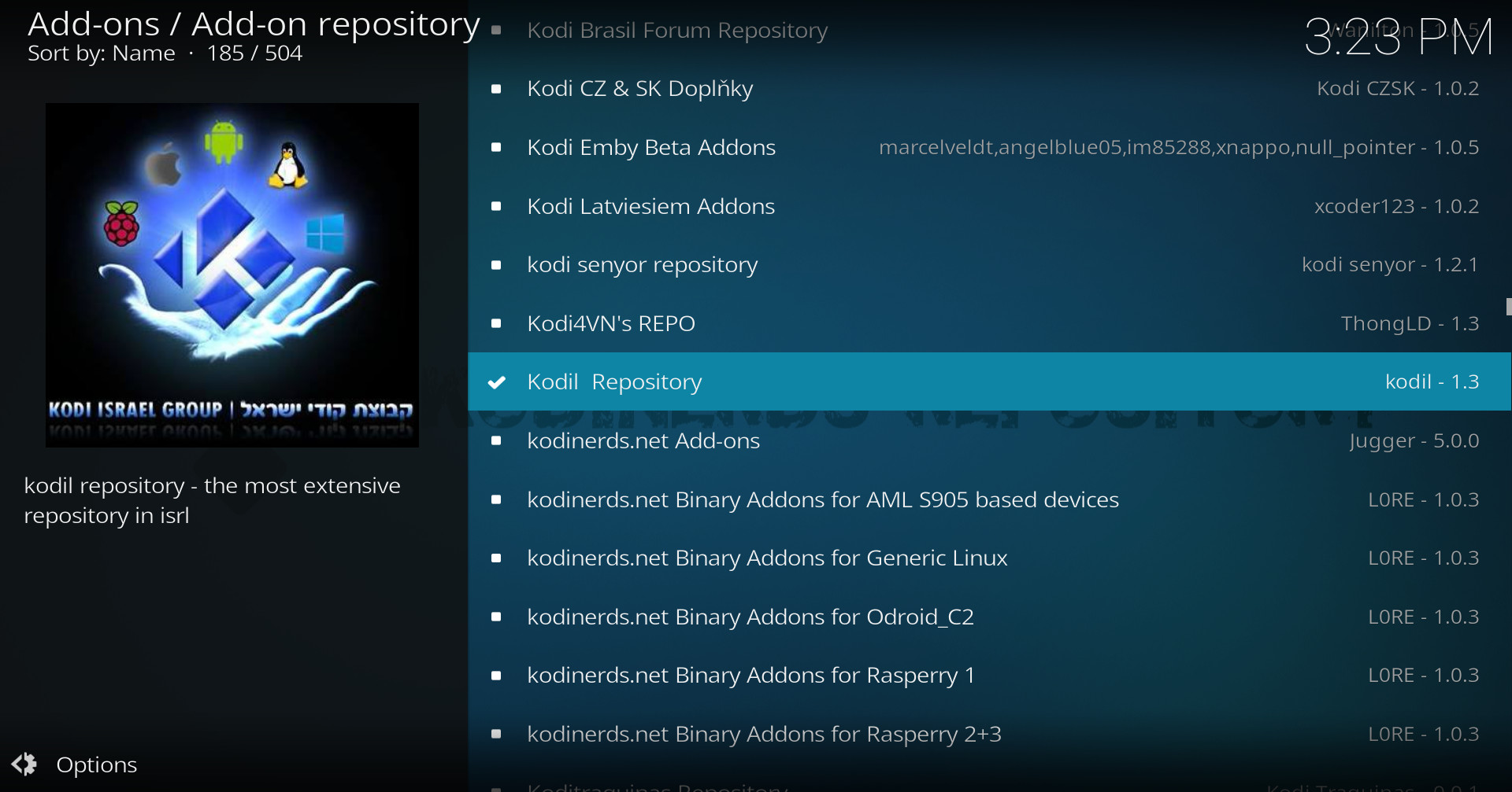 how to download kodi repositories